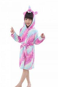 Peignoir Enfant Vêtements Confortable Polaire Doux Licorne à Encapuchonné Vêtements de Nuit Cadeau Unisexe de la marque EuHigh image 0 produit