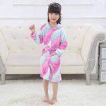 Peignoir Enfant Vêtements Confortable Polaire Doux Licorne à Encapuchonné Vêtements de Nuit Cadeau Unisexe de la marque EuHigh image 2 produit