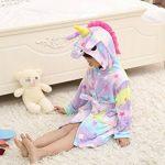 Peignoir Enfant Vêtements Confortable Polaire Doux Licorne à Encapuchonné Vêtements de Nuit Cadeau Unisexe de la marque EuHigh image 3 produit