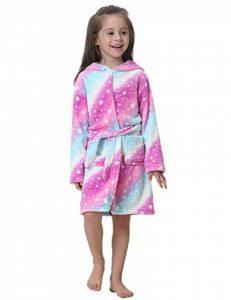 Peignoir Enfants Doux Robe de Chambre Licorne Vêtement de Nuit Capuche Flanelle Chaud Robe de Nuit Mignon pour Fille et Garçon de la marque Abollria image 0 produit