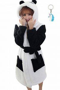 Peignoir Eponge a Capuche Femme Homme Couple Pyjama Animaux Manteau de Bain Mignon Robe de Chambre Manche Longue Vêtements de Nuit Fantaisie Animal Cosplay Costume Bathrobe Nightgown de la marque Landove image 0 produit