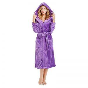 Peignoir Femme Bain Coton Eponge, Robe de Chambre pour Femme Vêtements de Nuit Coton Hiver avec Capuche Lacets Ensembles de Pyjama S-5XL de la marque OSYARD image 0 produit