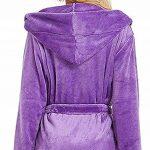 Peignoir Femme Bain Coton Eponge, Robe de Chambre pour Femme Vêtements de Nuit Coton Hiver avec Capuche Lacets Ensembles de Pyjama S-5XL de la marque OSYARD image 3 produit