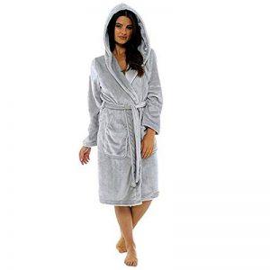 Peignoir Femme Polyester Robe de Chambre Chaud Long Peignoir de Bain Hiver Longue Pas Cher de la marque ZYUEER image 0 produit