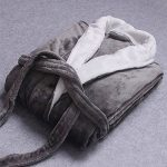 Peignoir Femme Robe de Chambre Polaire Homme Chaud Longue Pyjama Bathrobe de la marque Quge image 1 produit