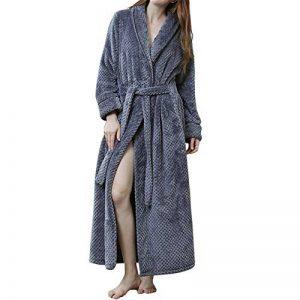 Peignoir Femme Velours Robe de Chambre Polaire Chaud Long Flanelle Peignoir de Bain Homme Eponge Hiver Longue de la marque GODGETS image 0 produit