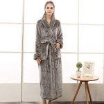 Peignoir Femme Velours Robe de Chambre Polaire Chaud Long Flanelle Peignoir de Bain Homme Eponge Hiver Longue Taille(M/XL/3XL) de la marque MCYS image 1 produit