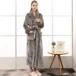 Peignoir Femme Velours Robe de Chambre Polaire Chaud Long Flanelle Peignoir de Bain Homme Eponge Hiver Longue Taille(M/XL/3XL) de la marque MCYS image 2 produit
