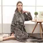 Peignoir Femme Velours Robe de Chambre Polaire Chaud Long Flanelle Peignoir de Bain Homme Eponge Hiver Longue Taille(M/XL/3XL) de la marque MCYS image 3 produit