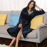 Peignoir Femme Velours Robe de Chambre Polaire Femme Chaud Long Flanelle Peignoir de Bain Homme Eponge Hiver Longue pour Le Cadeau de Noël de la marque Aibrou image 4 produit