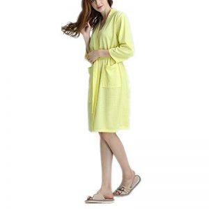 Peignoir gaufré pour Femmes, Section Mince, 2 Poches, Ceinture, Pyjama de Spa Doux, Absorbant et Confortable de la marque DUJUN image 0 produit