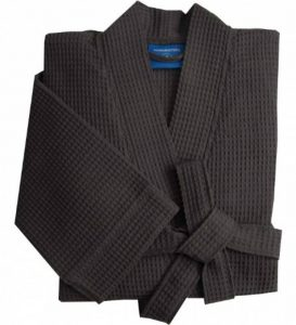 Peignoir Homme 100% Coton lonqueur 110 cm Gris Tissage gaufré Waffle Sceau Oeko-Tex en Plusieurs Tailles 2 Poches Doux, Absorbant et Confort de la marque Morgenstern image 0 produit