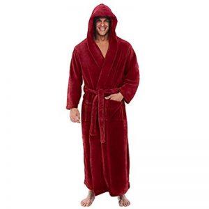 Peignoir Homme Pyjama Rouge Manches Longues Grand Taille de la marque Xmiral image 0 produit