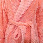 Peignoir Long Polaire Femme Homme Unisexe Couple Pyjama Kimono Robe de Chambre Manche Longue Bathrobe Nightgown Vêtements de Nuit pour Hotal Spa Homewear Romper Sleepsuit - Landove de la marque Landove image 4 produit
