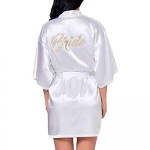 Peignoir Personnalisé Cadeau de Mariage Paillettes Peignoirs Jour de Mariage Robe de ChambreRobe de la marque Yying image 0 produit