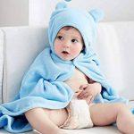 Peignoir personnalisé à capuche mignon pour bébé et enfants. Personnalisé Brodé. Super doux et peluche. Ultra absorbant et hypoallergénique. (rose rouge) de la marque Générique image 2 produit