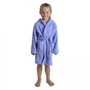 Peignoir pour Enfants Petit Garçon Fille avec Capuche 100% Coton Robe de Chambre Serviette Doux Éponge de Coton 7-13 Ans de la marque CityComfort image 0 produit