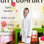 Peignoir pour Enfants Petit Garçon Fille avec Capuche 100% Coton Robe de Chambre Serviette Doux Éponge de Coton 7-13 Ans de la marque CityComfort image 1 produit