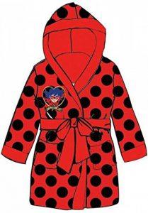 Peignoir , robe de chambre Miraculous Lady bug pour Fille Age 6/7 Ans, Tout Doux, Superbe Couleur rouge Taille 116/122 label OKEO-TEX+ 1 ballon Barbie OFFERT de la marque Mgs33 image 0 produit