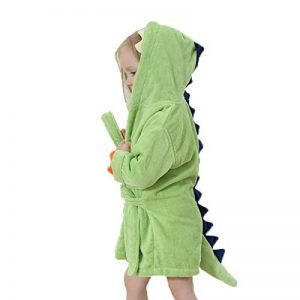 Peignoir Sortie de Bain a Capuche Drap de Bain Bébé Noël Anniversaire Serviettes de Bain Plage Unisexe Filles Garçons Poncho Couvertures Robe de Chambre Pyjamas Enfants Chemise de Nuit de la marque Elonglin image 0 produit