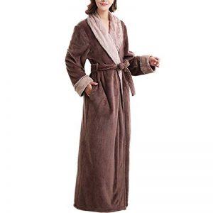Peignoir Unisexe Femme/Homme Couple Longue en Velours Chaud Robe de Chambre Polaire Pyjama pour Hiver Perfect Cadeau Noël de la marque Raylans image 0 produit