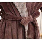 Peignoir Unisexe Femme/Homme Couple Longue en Velours Chaud Robe de Chambre Polaire Pyjama pour Hiver Perfect Cadeau Noël de la marque Raylans image 2 produit