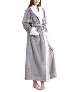 Peignoir Unisexe Femme Homme Velours Robe De Chambre Polaire Chaud Long Flanelle Peignoirs De Bain Eponge Longue de la marque DianShaoA image 0 produit