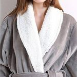 Peignoir Unisexe Femme Homme Velours Robe De Chambre Polaire Chaud Long Flanelle Peignoirs De Bain Eponge Longue de la marque DianShaoA image 3 produit