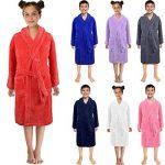 Peignoirs de Bain Enfants Garçon Fille - Sunenjoy Drap de Bain Flanelle Chemise de Nuit Manches Longues Pyjamas Vêtement de Nuit Robe de Chambre Serviette Doux Éponge 3-12 Ans de la marque Sunenjoy+Vtements image 2 produit