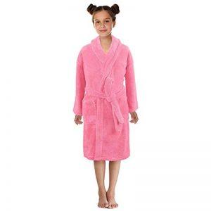 Peignoirs de Bain Enfants Garçon Fille - Sunenjoy Drap de Bain Flanelle Chemise de Nuit Manches Longues Pyjamas Vêtement de Nuit Robe de Chambre Serviette Doux Éponge 3-12 Ans de la marque Sunenjoy+Vtements image 0 produit