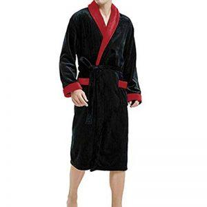 ☯ Peignoirs de Bain Manteau de à Manches Longues en Peluche d'hiver pour Hommes Pyjama Grande Taille de la marque iYmitz image 0 produit