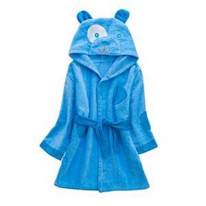 Peignoirs pour Enfants Sortie de bain à Capuchon Garçons Filles Peignoir Serviettes de Plage 3-5 Ans, Bleu de la marque WYTbaby image 0 produit
