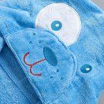 Peignoirs pour Enfants Sortie de bain à Capuchon Garçons Filles Peignoir Serviettes de Plage 3-5 Ans, Bleu de la marque WYTbaby image 3 produit