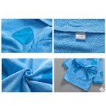 Peignoirs pour Enfants Sortie de bain à Capuchon Garçons Filles Peignoir Serviettes de Plage 3-5 Ans, Bleu de la marque WYTbaby image 4 produit