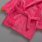 Peignoirs pour Enfants Sortie de bain à Capuchon Garçons Filles Peignoir Serviettes de Plage 3-5 Ans, Rouge de la marque WYTbaby image 1 produit