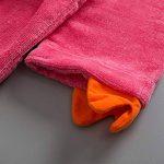 Peignoirs pour Enfants Sortie de bain à Capuchon Garçons Filles Peignoir Serviettes de Plage 3-5 Ans, Rouge de la marque WYTbaby image 3 produit