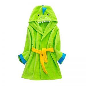 Peignoirs pour Enfants Sortie de bain à Capuchon Garçons Filles Peignoir Serviettes de Plage 3-5 Ans, Vert de la marque WYTbaby image 0 produit