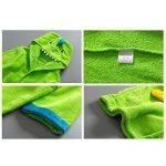 Peignoirs pour Enfants Sortie de bain à Capuchon Garçons Filles Peignoir Serviettes de Plage 3-5 Ans, Vert de la marque WYTbaby image 4 produit