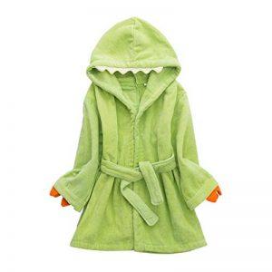 Peignoirs pour Enfants Sortie de bain à Capuchon Garçons Filles Peignoir Serviettes de Plage 3-7 Ans, Vert de la marque WYTbaby image 0 produit