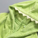 Peignoirs pour Enfants Sortie de bain à Capuchon Garçons Filles Peignoir Serviettes de Plage 3-7 Ans, Vert de la marque WYTbaby image 2 produit
