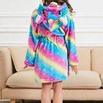 PENGMAI Licorne Peignoir pour Enfants Fille Garçon avec Capuche Vêtements De Nuit Pyjamas Robe de Chambre Serviette Doux 2-11Ans de la marque PENGMAI image 1 produit