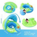 Peradix Bouée Siège Gonflable Piscine Gonflable Enfant Bébés 6 - 36 Mois Baignoire Piscine PVC Matériel (Bleu Vert) de la marque Peradix image 4 produit