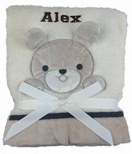 personnalisé Deluxe Bunny Couverture pour bébé. Luxe Wrap. Beau Cadeau bébé. de la marque The-Personalised-Baby-Company image 0 produit