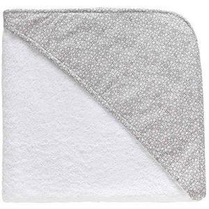 [PERSONNALISABLE] Cape de bain bébé personnalisée unie style claudine – [BRODERIE OFFERTE] dans toutes les langues (Blanc) de la marque Brodeway image 0 produit