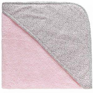 [PERSONNALISABLE] Cape de bain bébé personnalisée unie style claudine – [BRODERIE OFFERTE] dans toutes les langues (Rose) de la marque Brodeway image 0 produit