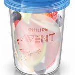 Philips Avent - SCF721/20 - Pots de conservation 180 ml et 240 ml avec Couvercles associés et Cuillère de Sevrage de la marque Philips image 2 produit