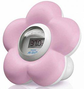 Philips Avent Thermomètre numérique pour le bain et la chambre en forme de fleur Rose de la marque Philips-AVENT image 0 produit