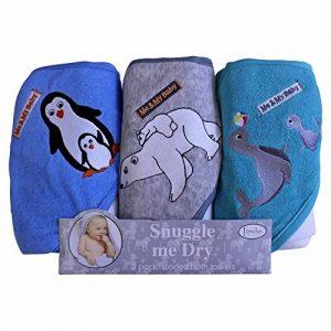 Pingouin/Ours Polaire/Seal Ensemble de serviette de bain serviette de bain à capuche, Lot de 3, Frenchie Mini Couture de la marque Frenchie-Mini-Couture image 0 produit
