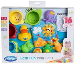 Playgro Jouets de Bain, 16 Pièces, À partir de 6 Mois, Sans BPA, Playgro Coffret Cadeau Jouets de Bain, 40115 de la marque Playgro image 0 produit