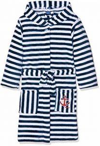 Playshoes Kinder Fleece-Bademantel Ringel Maritim Robe de Chambre Garçon de la marque Playshoes image 0 produit